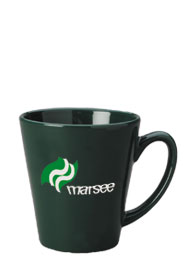 12 oz tulsa latte mug - green