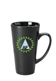16 oz glossy funnel latte mug - black16 oz glossy funnel latte mug - black
