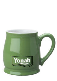 15 oz lime green country style coffee cup