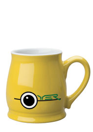 15 oz lemon yellow spokane mug coffee cup
