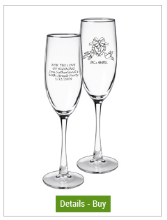 8 oz connoisseur champagne favor glass