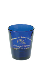 1.5 oz Wedding Libbey shot glass - cobalt1.5 oz Wedding Libbey shot glass - cobalt