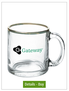 13 oz Libbey clear promotional glass mug