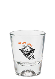 1.5 oz Libbey athlete shot glass - basketball