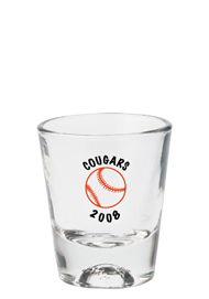 1.5 oz Libbey athlete shot glass - baseball