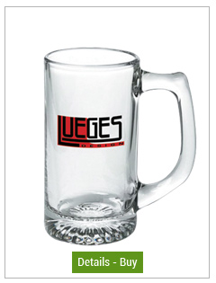 13 oz customized sport glass mug13 oz customized sport glass mug