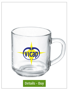 10 oz handy glass mug