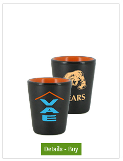 1.5oz wedding ceramic shot glass - matt black with orange1.5oz wedding ceramic shot glass - matt black with orange