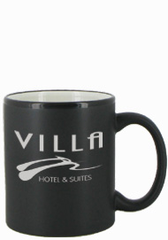 11 oz Hilo Two Tone Matte Finish Black Out/white In C-Handle Mug11 oz Hilo Two Tone Matte Finish Black Out/white In C-Handle Mug