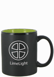 11 oz Hilo Two Tone Matte Finish Black Out/Green In C-Handle Mug11 oz Hilo Two Tone Matte Finish Black Out/Green In C-Handle Mug