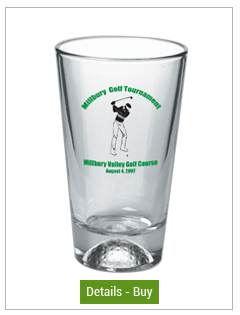 16 oz athlete mixing glass - golf