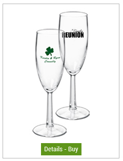 6 oz rastal customized champagne toasting glass