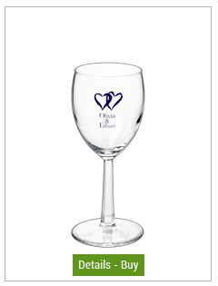 6.5 oz wedding rastal custom printed wine glass6.5 oz wedding rastal custom printed wine glass