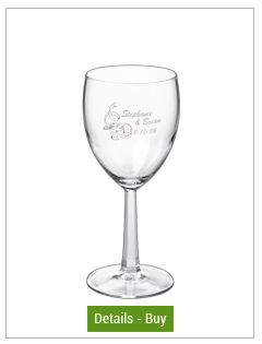 8.5 oz rastal customized wine glass