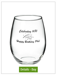 15 oz perfection stemless wine glass