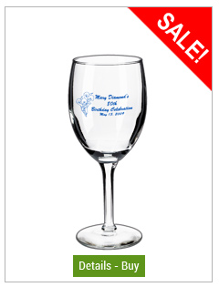 8 oz Libbey citation personalized wine glass