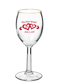 6.5 oz Libbey Wedding napa country wine glass