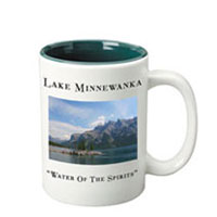 15 oz  el grande picture mug - white out green in