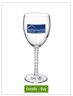 10.5 oz angelique goblet printed wine glass