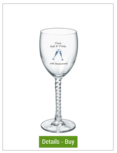 8.5 oz angelique wedding glass