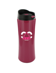 14 oz clicker travel mug - mauve