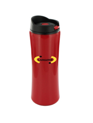 14 oz clicker travel mug - red