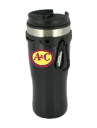 16 oz edge travel mug - black