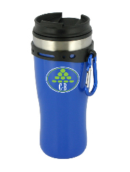 16 oz edge travel mug with carbiner clip - blue16 oz edge travel mug with carbiner clip - blue