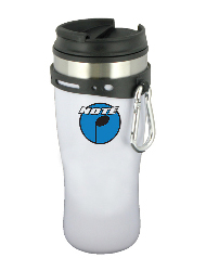 16 oz edge travel mug - white