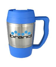16 oz highlander travel mug - blue