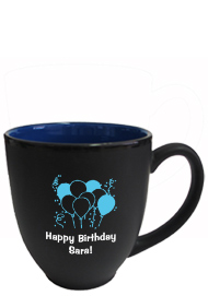 15 oz matte black out blue in hilo bistro coffee mugs
