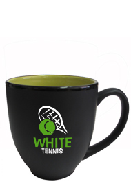 15 oz matte black out lime green in hilo bistro coffee mugs