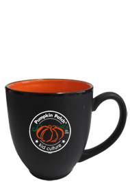 15 oz matte black out orange in hilo bistro coffee mugs