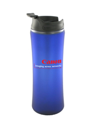 14 oz laguna matte surface travel mug - dark blue