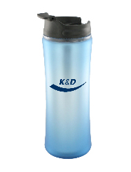 14 oz laguna matte surface travel mug - light blue