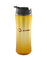 14 oz laguna matte surface travel mug - orange