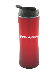 14 oz laguna matte surface travel mug - red