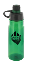 28 oz oasis sports water bottle - green