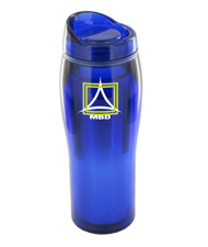 14 oz optima chrome travel mug - blue14 oz optima chrome travel mug - blue