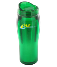 14 oz optima chrome travel mug - green14 oz optima chrome travel mug - green