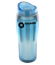 14 oz optima chrome travel mug - light blue14 oz optima chrome travel mug - light blue