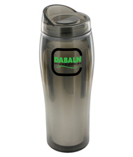 14 oz optima chrome travel mug - smoke
