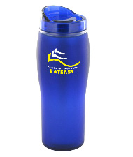 14 oz optima matte surface travel mug - blue