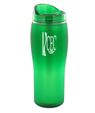14 oz optima matte surface travel mug - green