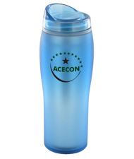 14 oz optima matte surface travel mug - light blue14 oz optima matte surface travel mug - light blue