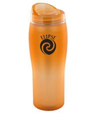 14 oz optima matte surface travel mug - orange