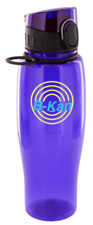 24 oz quenchers polycarbonate bottle - purple24 oz quenchers polycarbonate bottle - purple
