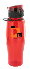 24 oz quenchers polycarbonate bottle - red