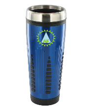 16 oz rocket stainless steel insulated travel mug - blue16 oz rocket stainless steel insulated travel mug - blue