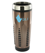 16 oz rocket stainless steel insulated travel mug - bronze16 oz rocket stainless steel insulated travel mug - bronze